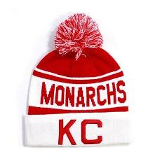 NLBM Negro Leagues Beanie Kansas City Monarchs Red & White