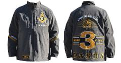 MASONIC FREEMASON MASON WATER PROOF WINDBREAKER JACKET COAT ZI...