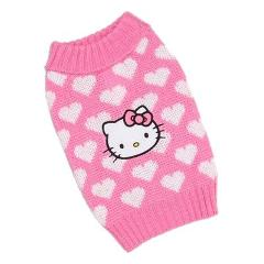 Hello Kitty Knit Sweater w/ Pink Hearts Dog Pet Girl Sweater L...