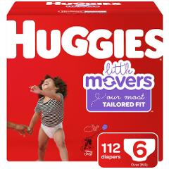 Huggies Little Movers Diapers Size 6 112 ct.