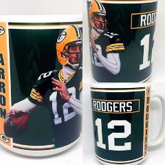 Custom Made Arron Rodgers 15oz Coffee Mug with your name Perso...