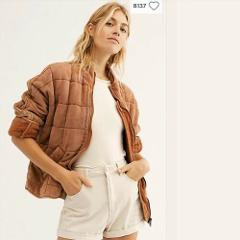 Free People Myrrh Dolman Quilted Jacket NWT $198 New Large L O...