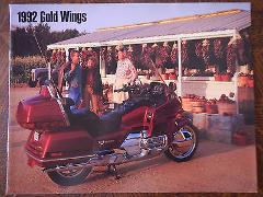 92 HONDA GOLDWING SERIES NOS OEM DEALER'S SALES SHEET LITERATU...