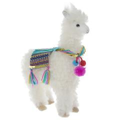 Alpaca With Decorative Saddle,Soft Toy,Gift For Animal Lover. ...