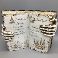 Witch Open Spell Book Love Protection Skeleton Hand Halloween ...
