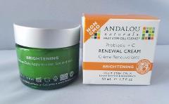 2 Andalou Naturals Skin Brightening Renewal Cream Anti-Aging R...