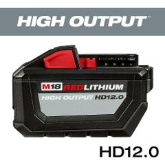 Milwaukee M18 12.0Ah 18-Volt Lithium-Ion High Output Battery 4...