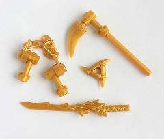 LEGO® Ninjago™ 4 Weapon Lot - from set 9450