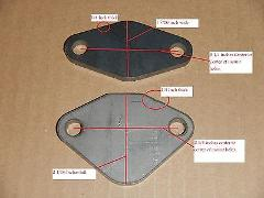 EGR DELETE PLATE BLOCK OFF SD33 SD33T TURBO DIESEL 1985 1986 J...
