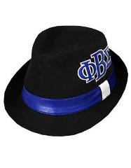 PHI BETA SIGMA FRATERNITY FEDORA DRESS STYLE HAT GOMAB 1914 BL...