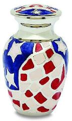 Stars & Stripes 3 Cubic Inches Small/Keepsake Funeral Crematio...