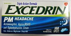Sealed Excedrin PM Sleeping Aid Headache Relief 100 Caplets Ca...