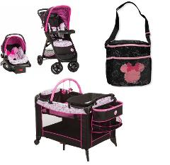 Minnie Mouse Baby Gear Bundle,Stroller Travel System,Play Yard...