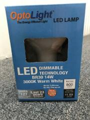 OptoLight LED Lamp Bulb - BR30 14W 3000K Warn White-Dimmable (...