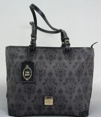 Disney Dooney & Bourke Haunted Mansion Gray Shopper Tote Bag NBC