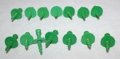 Corn Cob Skewer LOT of 14 Pampered Chef Holders Screw In Green...