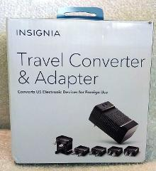 Insignia - Travel Converter/Adapter - Black Model: NS-TCADPT