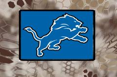 Detroit Lions, Morale Patch, Hook and Loop, We Make Custom One...