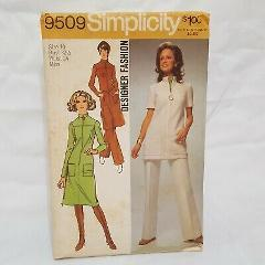 Misses Dress Tunic Pants Pattern 9509 Size Small 10 Simplicity...