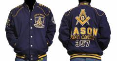 Freemason Jacket Masonic Blue Gold Long sleeve Jacket Worldwid...