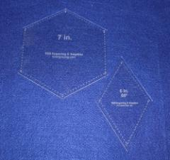 Quilt Templates-2 Piece Specialty- Hexagon/Diamond Set -1/8