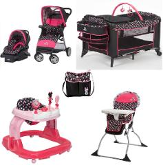 Disney Minnie Mash Up Complete Baby Gear Baby Bundle with Diap...
