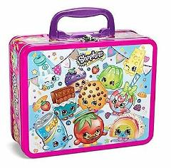 Shopkins 100 piece Puzzle asst Lunchbox Tin Characters Tin Lun...