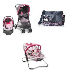 Disney Minnie Mouse Baby Gear Bundle,Stroller Travel System,Bo...
