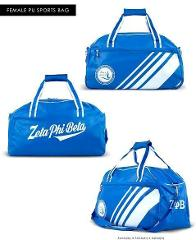 ZETA PHI BETA SORORITY DUFFEL GYM BAG TRAVEL TOTE BAG LADY'S S...