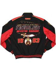 NOBLE SHRINER Fraternity Race Jacket Freemason Prince Hall Shr...