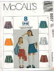 8857 UNCUT McCalls Vintage SEWING Pattern Girls A line Skirts ...