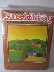 Sunset Stitchery Kit QUILTED SUMMER SCENE Retro Colors SEALED ...