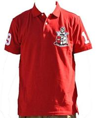 KAPPA ALPHA PSI FRATERNITY POLO SHIRT RED NUPE PHI NU PI SHORT...
