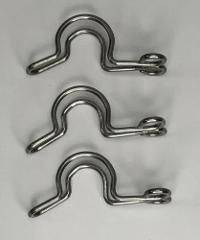 10mm Stainless Steel Metal Keck S Clips Lot Of 3 Pieces NEW FR...