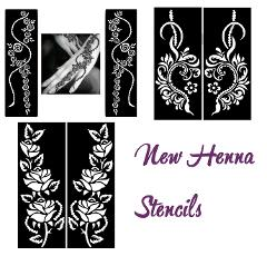 Mixed Design #Henna Temporary Tattoo Body Art Decal Stencil St...