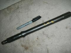 Left hand rear drive axle shaft 1993 Kawasaki Bayou 400 4x4 KL...