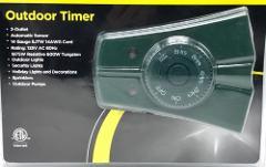 Outdoor Timer 2 Outlet Automatic Sensor Hardware Intertek Bra...