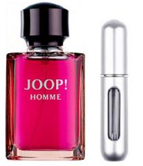 REFILLABLE PERFUME TRAVEL SPRAY WITH FREE 5ML JOOP! HOMME EDT