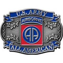 United States American Army 82nd Airborne Belt Buckle