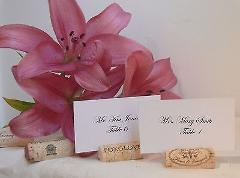 150 Used Natural Wine Cork Place Card Holders for Vineyard Wed...