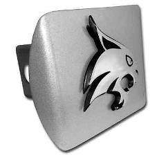Texas State (Bobcat) Brushed Hitch Cover