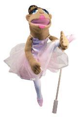 Melissa & Doug Ballerina Puppet - Full-Body With Detachable Wo...