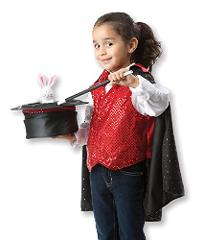 Melissa & Doug Magician Role Play Costume Set - Includes Hat, ...