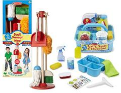 Melissa & Doug Let�s Play House! Dust, Sweep, and Mop Set with...