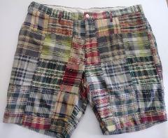 Polo Ralph Lauren Sz 40 India Madras Plaid Patchwork Shorts Cl...