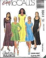 8841 UNCUT Vintage McCalls Sewing Pattern Misses Easy High Wai...