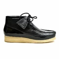 British Walkers Wallabee Boots Style Men's Black Patent Leather