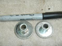 Exhaust pipe muffler mount spacer collars 1993 Kawasaki Bayou ...