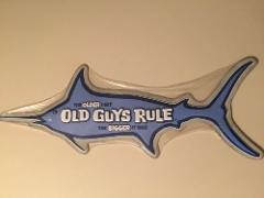 Old Guys Rule Marlin Embossed Charming Tin Sign.Retirement Gif...