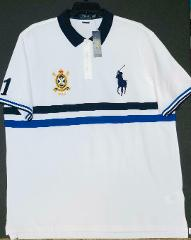 Polo Ralph Lauren White Classic Fit Mesh Polo Shirt Navy Big P...